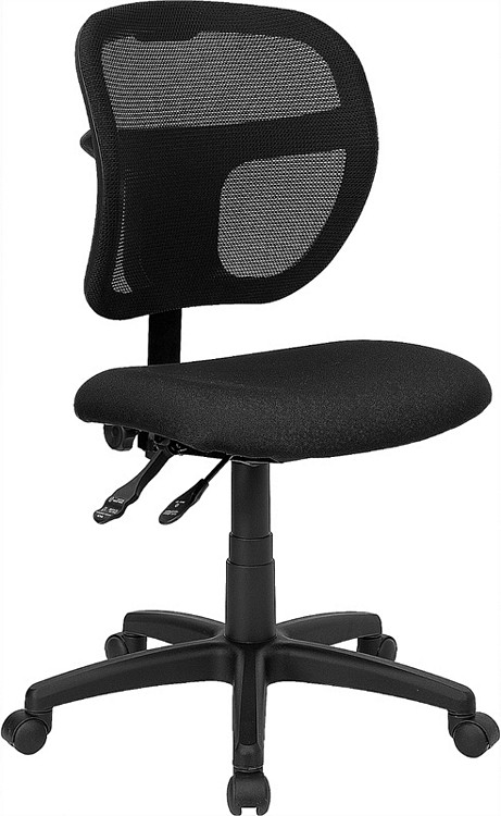 Flash Furniture Mid-Back Black Mesh Swivel Task Chair 1
