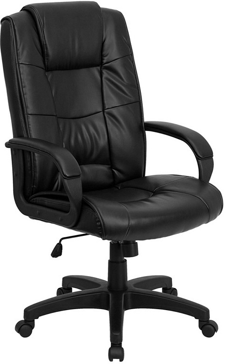 Flash Furniture High Back Black Leather Executive Swivel Chair with Arms 11