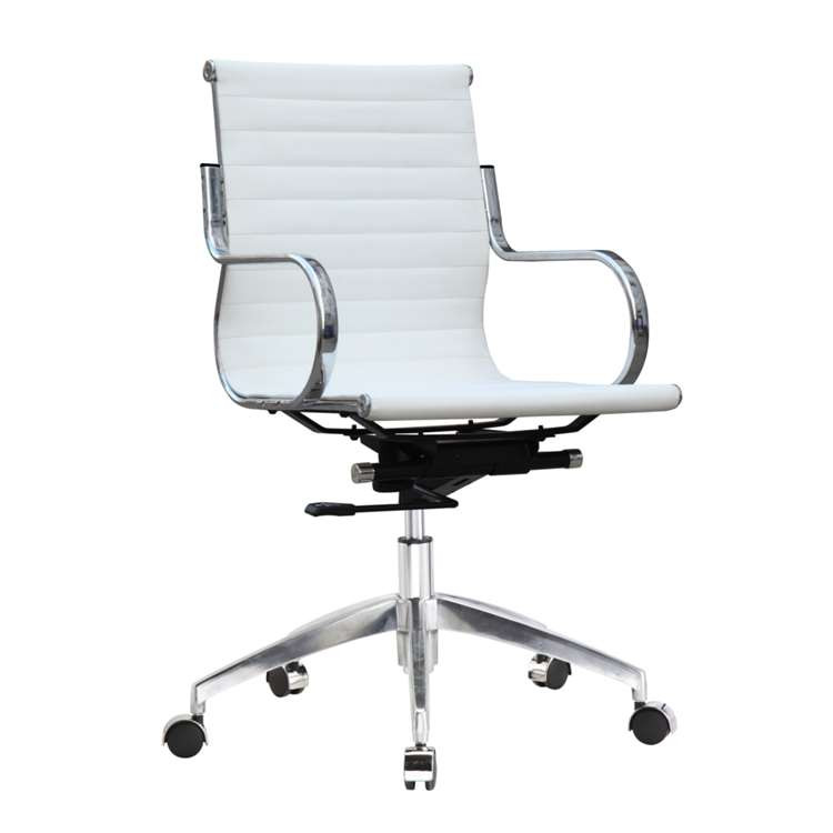 Fine Mod Twist Office Chair Mid Back, White