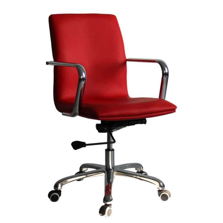 Fine Mod Confreto Conference Office Chair Mid Back, Red
