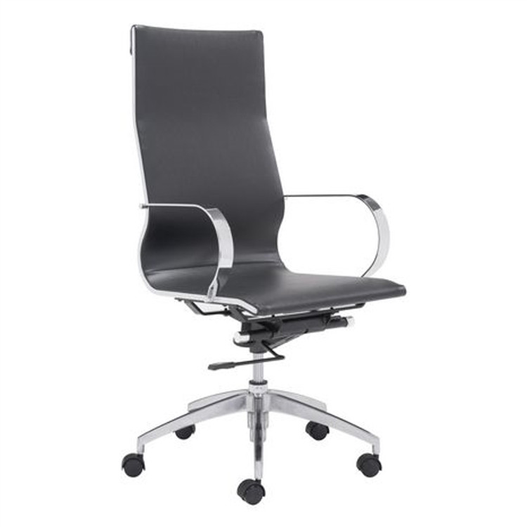 Fine Mod Conference Eames Style Office Chair High Back, Black