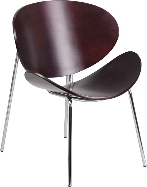 Flash Furniture Mahogany Bentwood Leisure Side Reception Chair