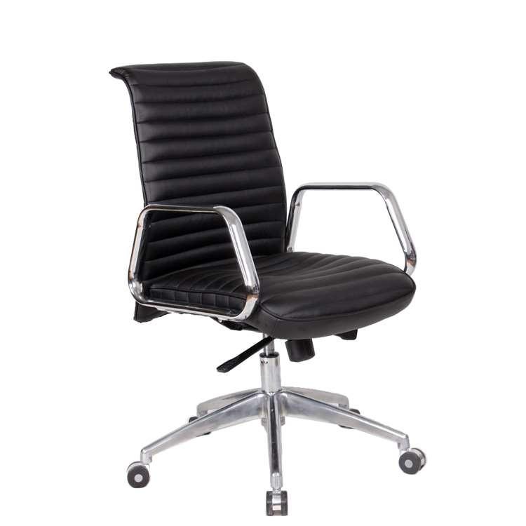 Fine Mod Ox Office Chair Mid Back, Black