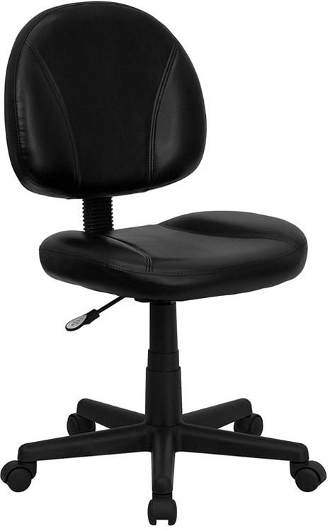 Flash Furniture Mid-Back Black Leather Ergonomic Swivel Task Chair