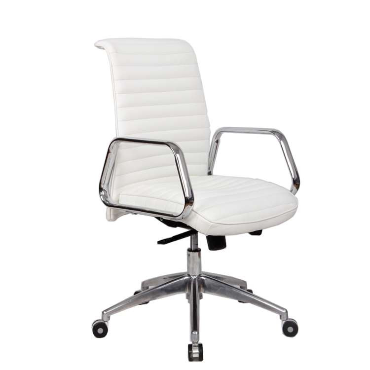 Fine Mod Ox Office Chair Mid Back, White