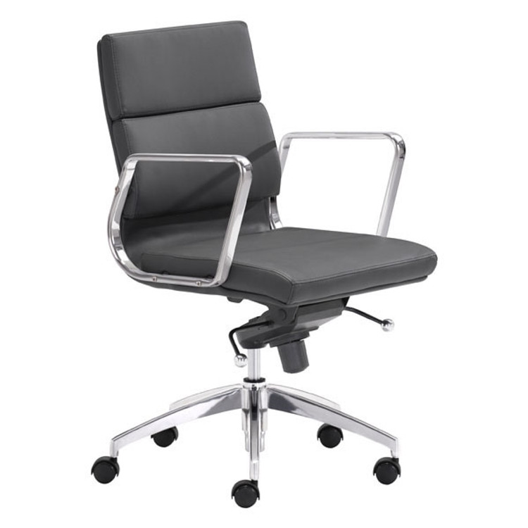 Zuo Modern Engineer Low Back Office Chair Black