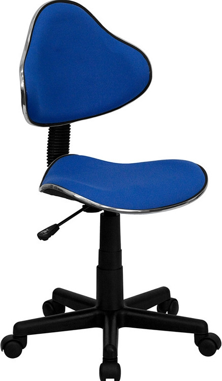 Flash Furniture Blue Fabric Ergonomic Swivel Task Chair