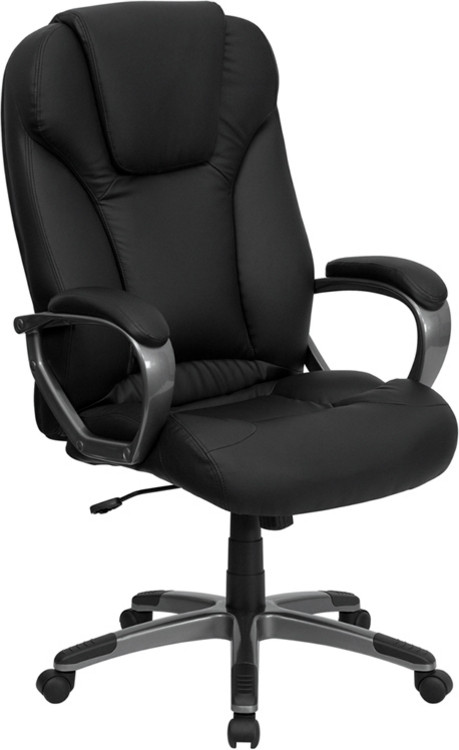 Flash Furniture High Back Black Leather Executive Swivel Chair with Arms 3
