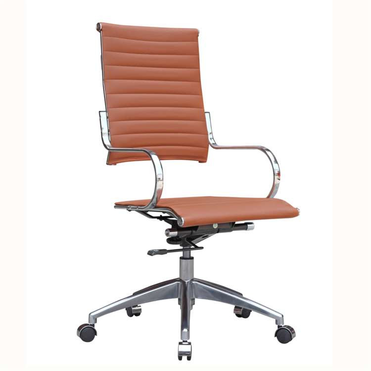 Fine Mod Flees Office Chair High Back, Light Brown