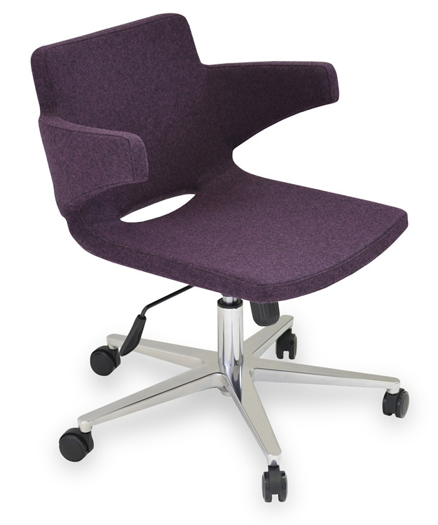 Soho Concept Nevada Arm Office Chair in Camira Wool