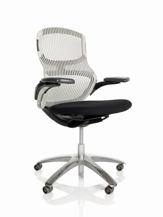 Knoll Generation Chair Fully Adjustable Model White Back