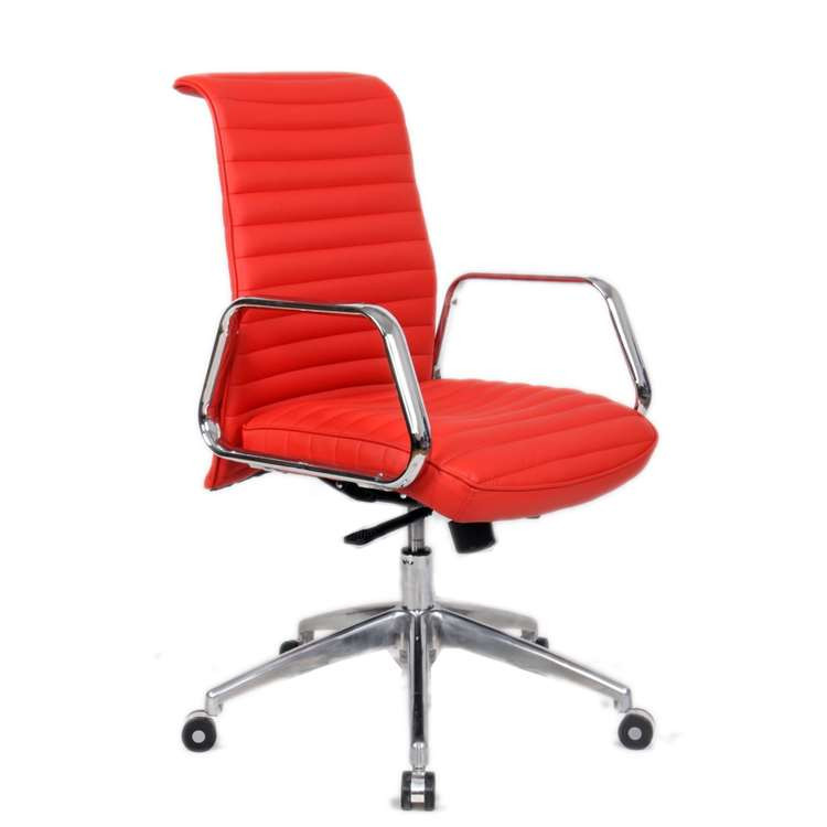 Fine Mod Ox Office Chair Mid Back, Red