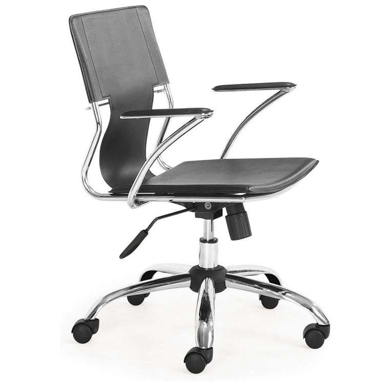 Fine Mod Elegant Office Chair, Black