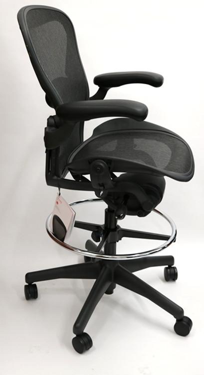 Herman Miller Aeron Drafting Stool Chair Fully Featured