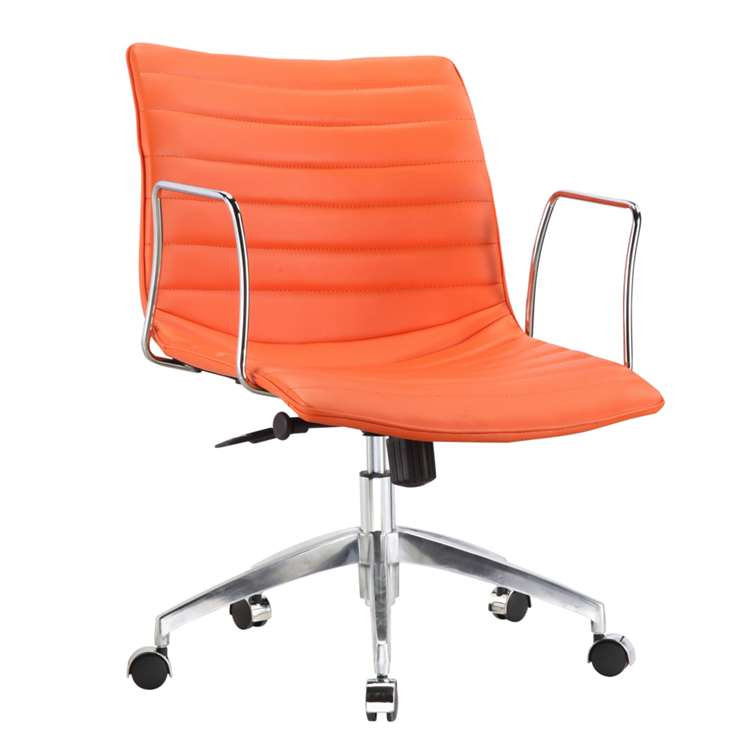 Fine Mod Comfy Office Chair Mid Back, Orange