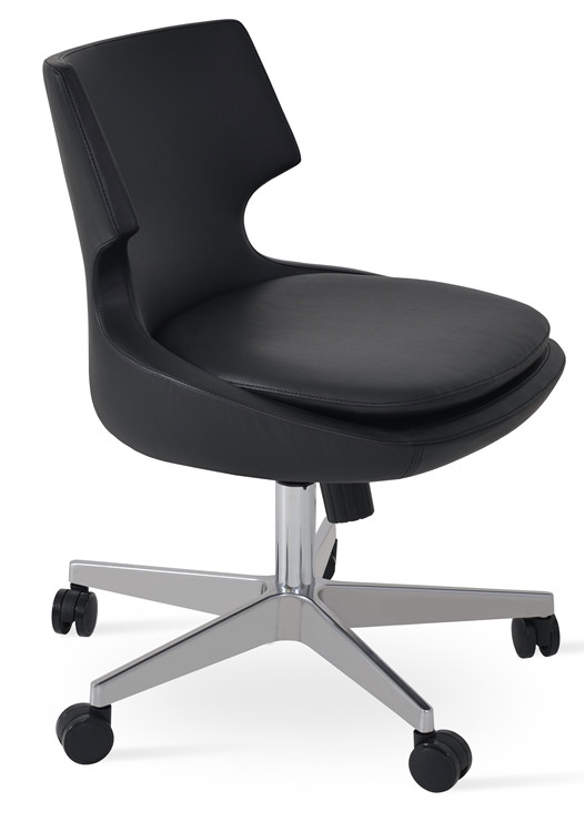 Soho Concept Patara Office Chair in Leather