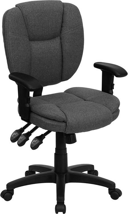 Flash Furniture Mid Back Gray Fabric Multifunction
