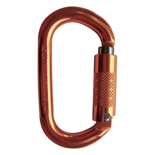 Triple Lock True Oval Aluminum Carabiner