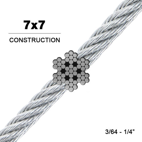 7x7   304 Stainless Steel Wire Rope (Aircraft Cable)