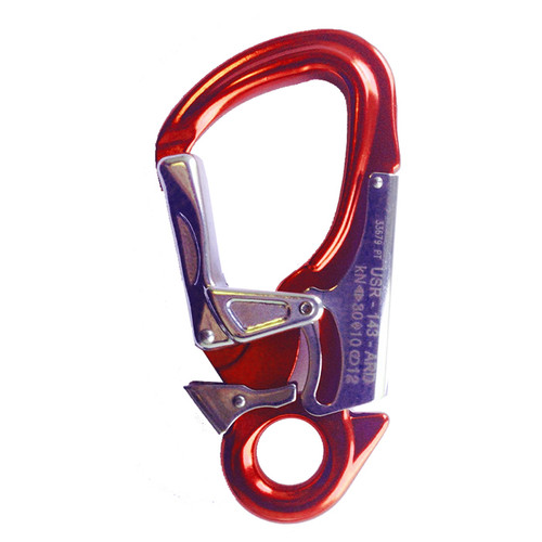Aluminum Safety Snap Hook - Red