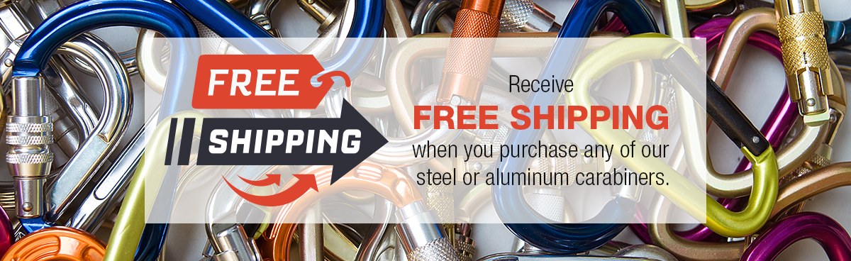 Receive Free Shipping when you purchase any carabiner.