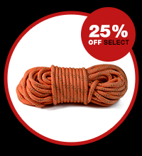 25% off select fiber rope