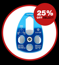 25% off select pulleys and swivels