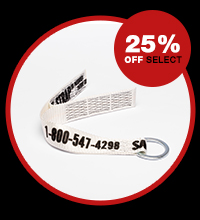 25% off select safety straps