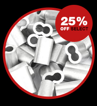 25% off select duplex and swage sleeves