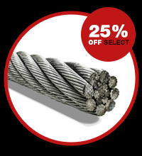 25% off select wire rope
