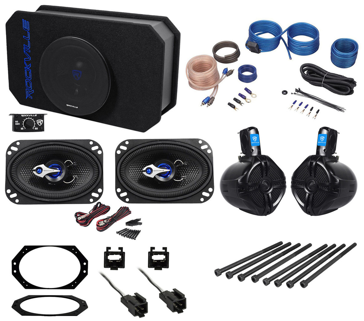 Jeep Wrangler 97 06 Powered Subwoofer Enclosure Front Rollbar