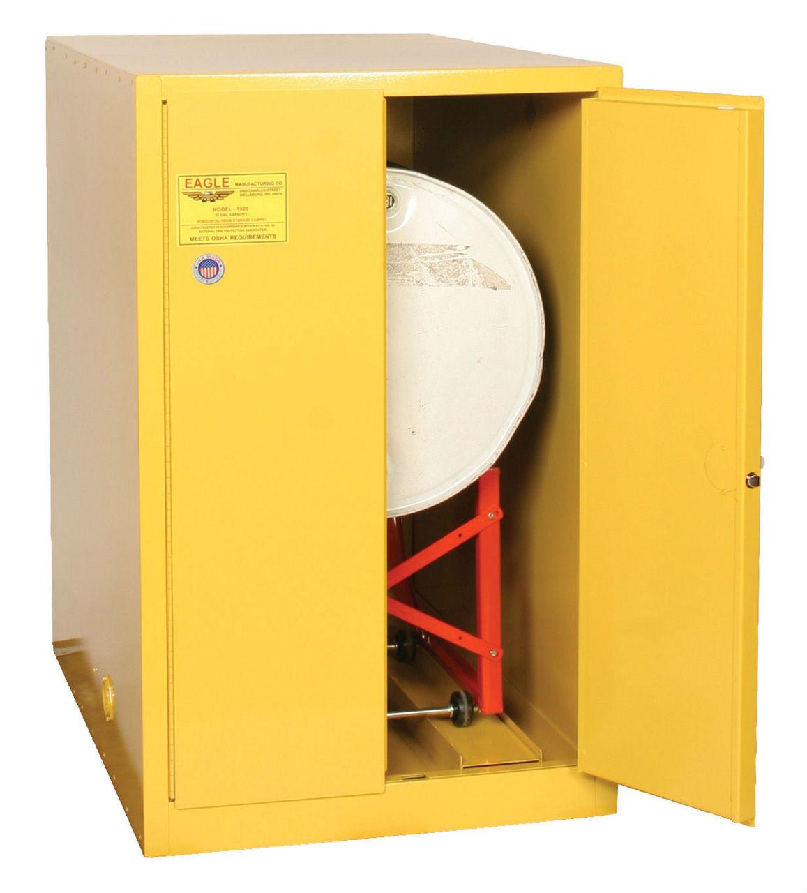 eagle 1928 55 gallon drum storage cabinet horizontal. Black Bedroom Furniture Sets. Home Design Ideas