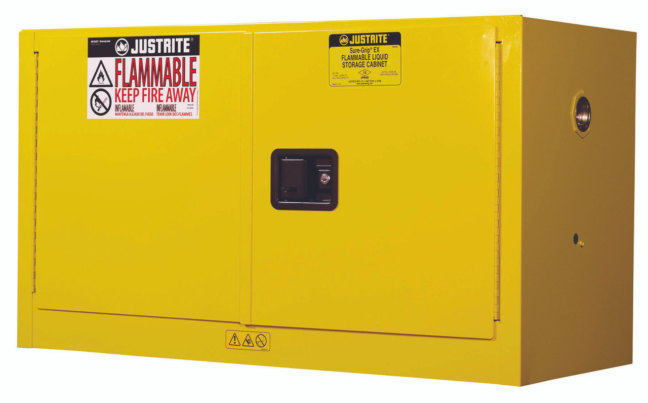 Piggyback Flammable Safety Cabinet   Justrite 891700   17 Gallon