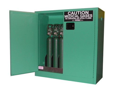 Securall Oxygen Cylinder Safety Cabinet 9 12 Cylinders