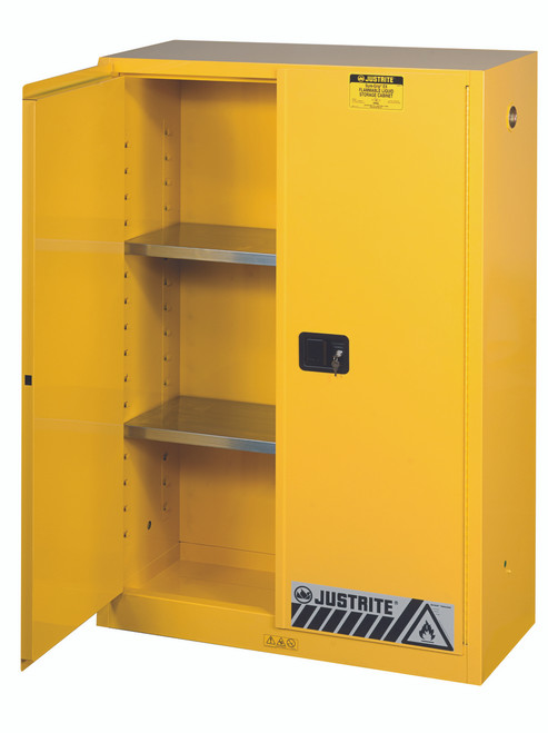 Great ... Safety Cans · 45 Gallon Flammable Cabinet Open Door ...