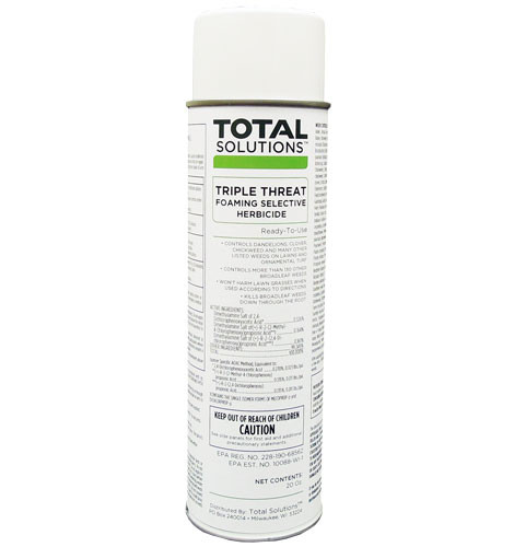 Triple Threat Foaming Weed Killer Selective Herbicide