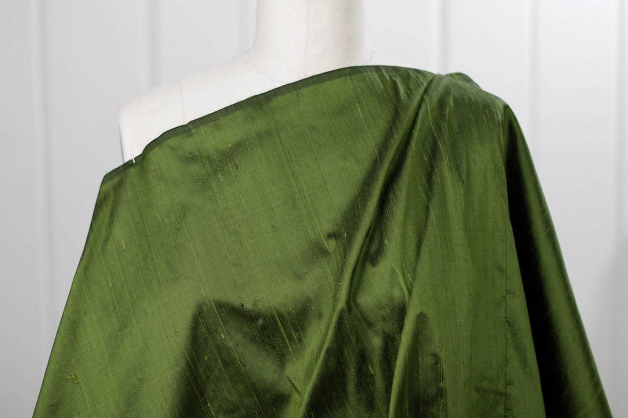 Juniper Green Silk Dupioni