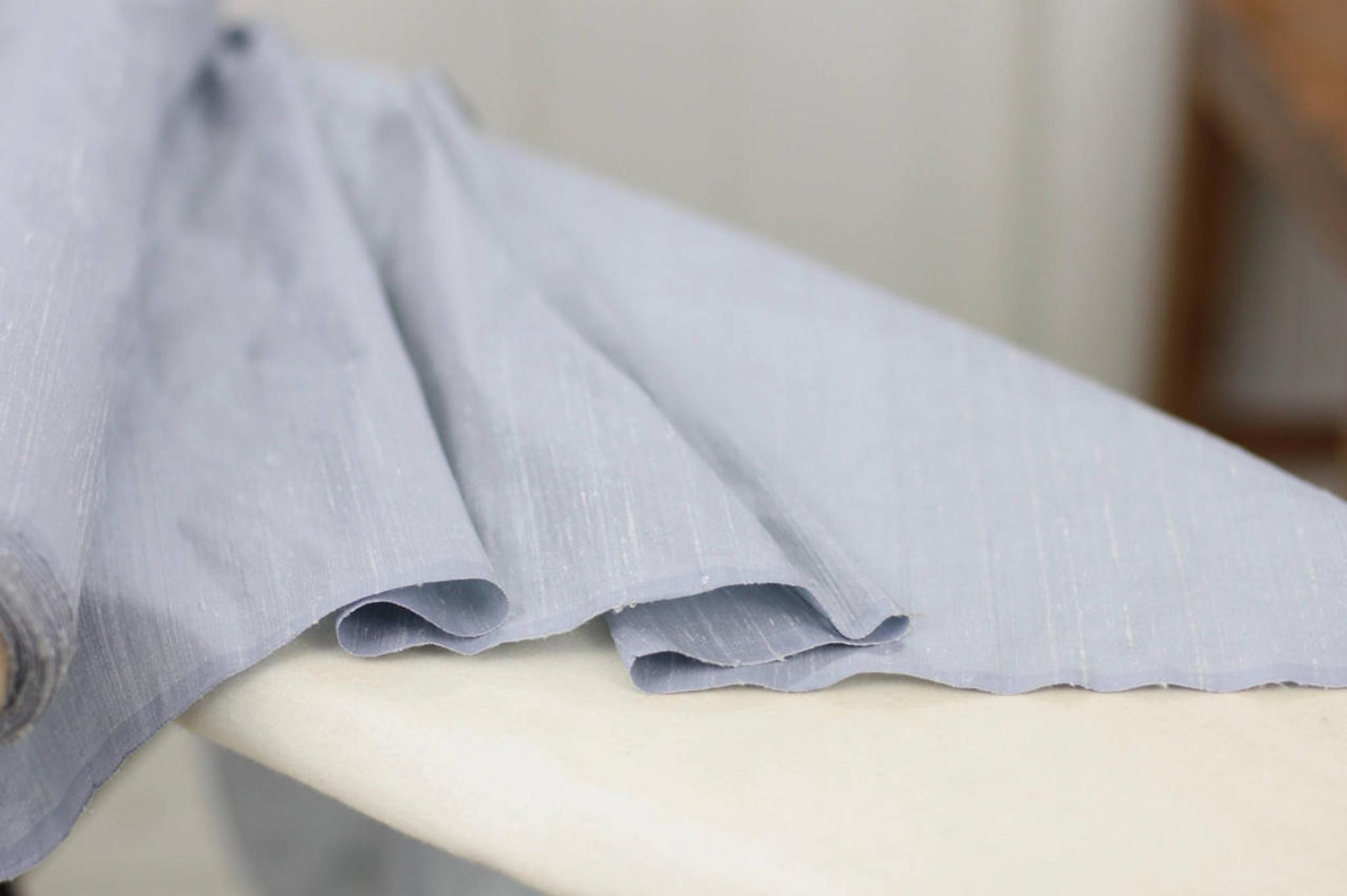 Powder Blue Silk Dupioni