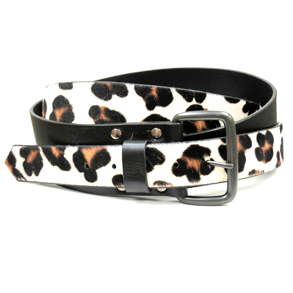 Double Wrap Leather and Pony Hair Belt