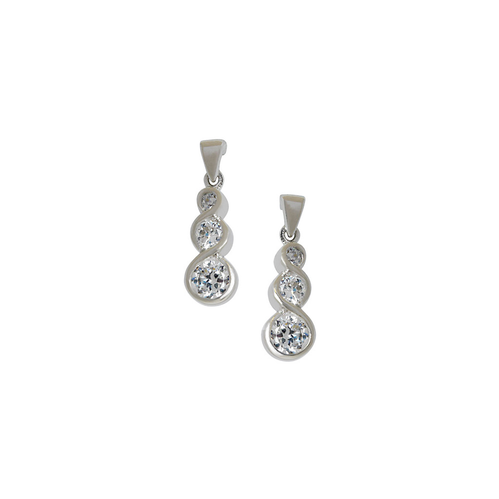 Then, Now and Forever Cubic Zirconia Earrings