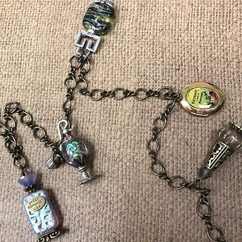 Antique Perfume Bottle Necklace