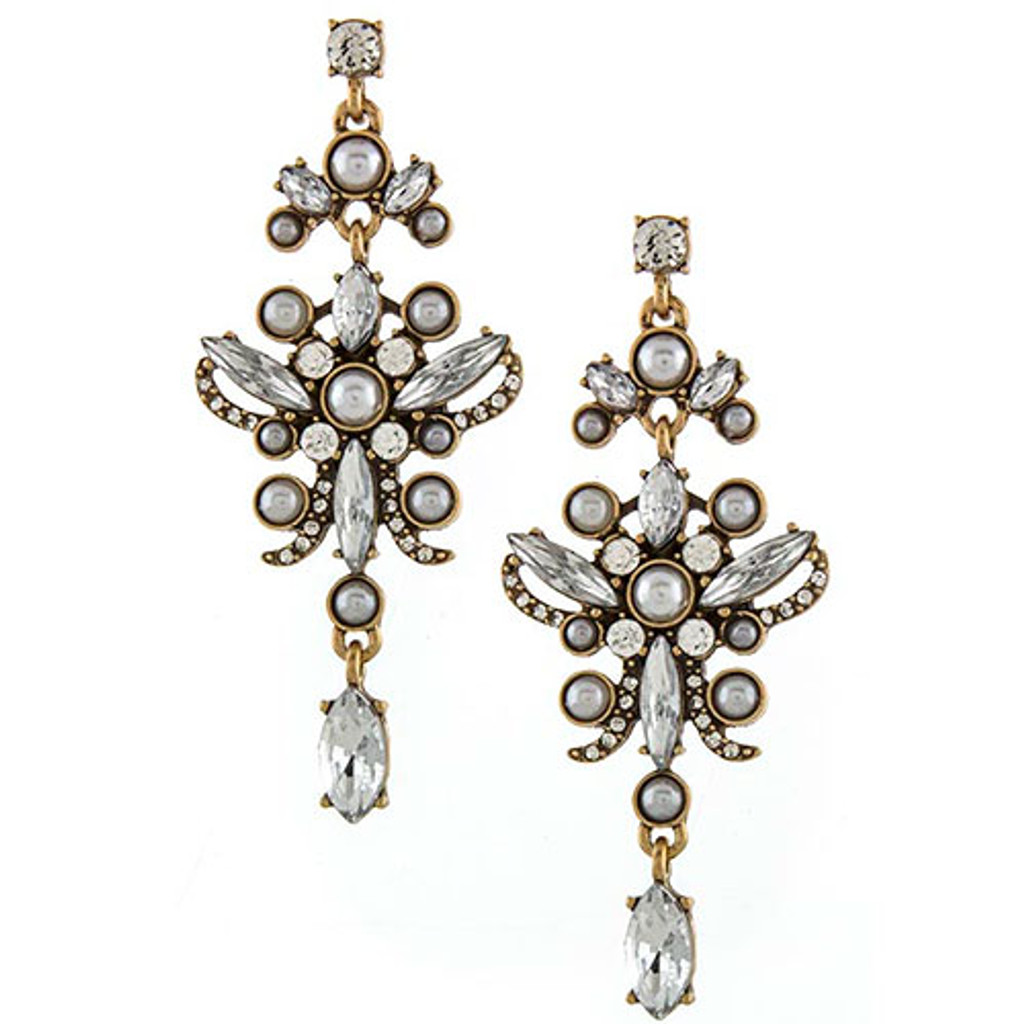 Antiqued Gold Maria Antoinette Earring