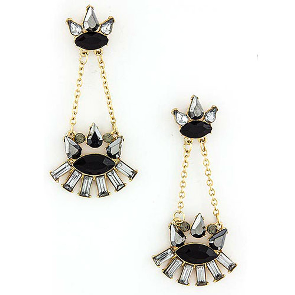 Black and Gray Heritage Dangles