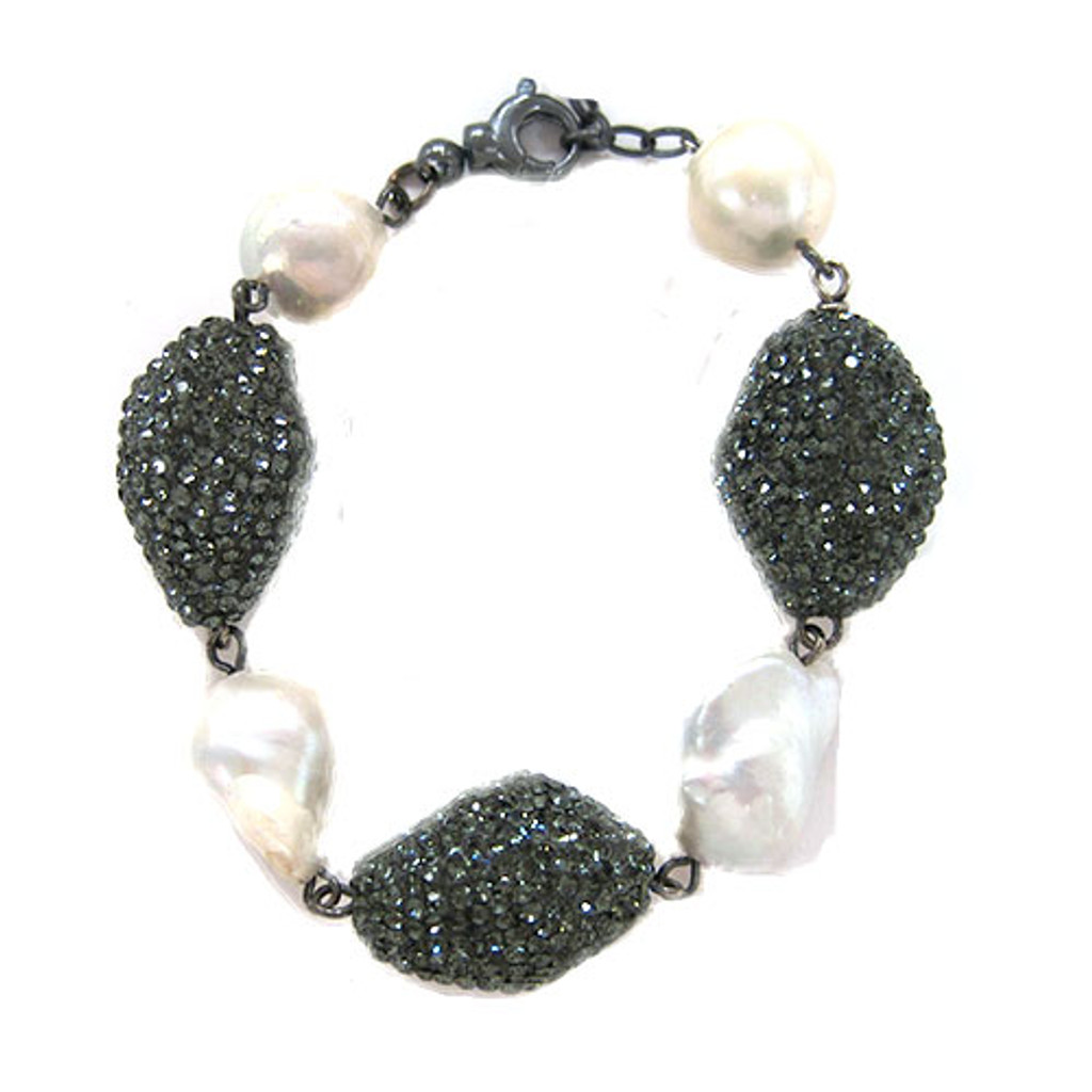 Black Diamond Baubles and Baroque Pearls