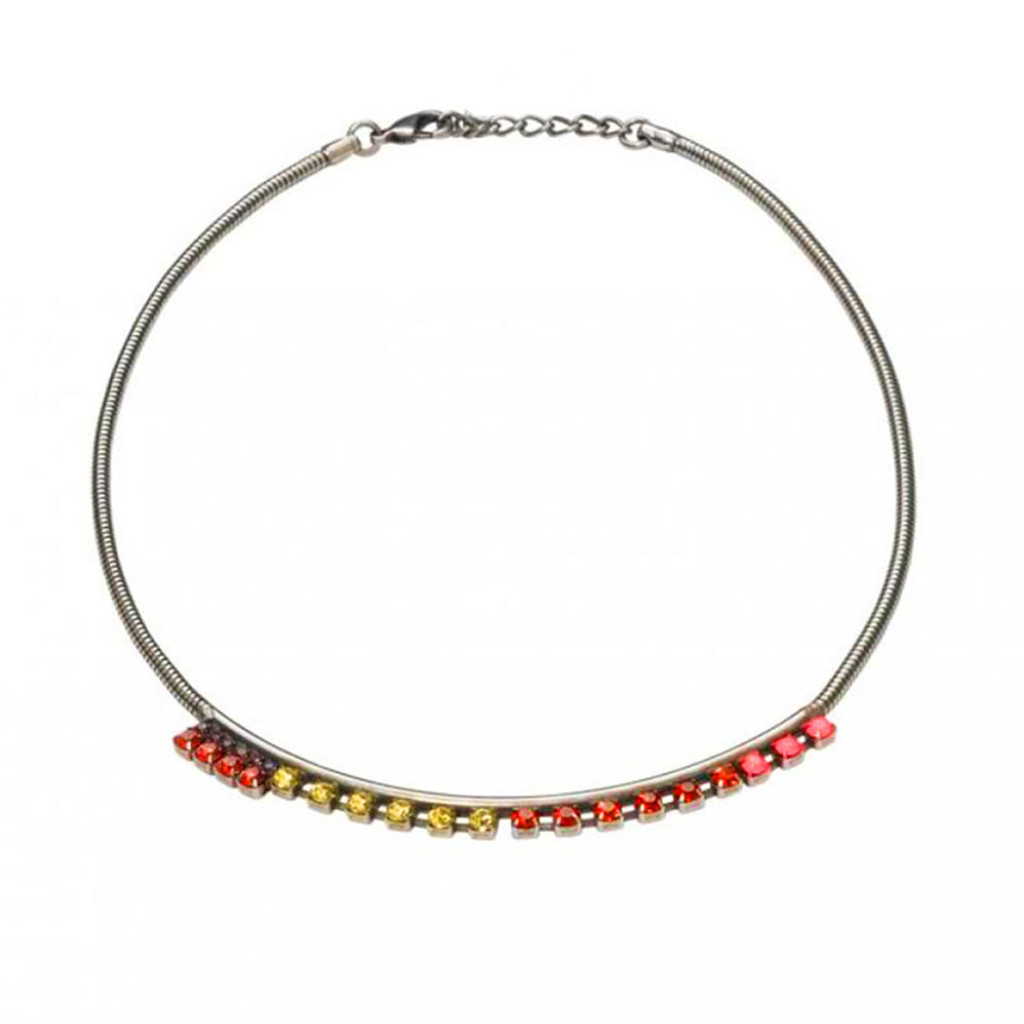 Multi-Color Modern Crystal Collar