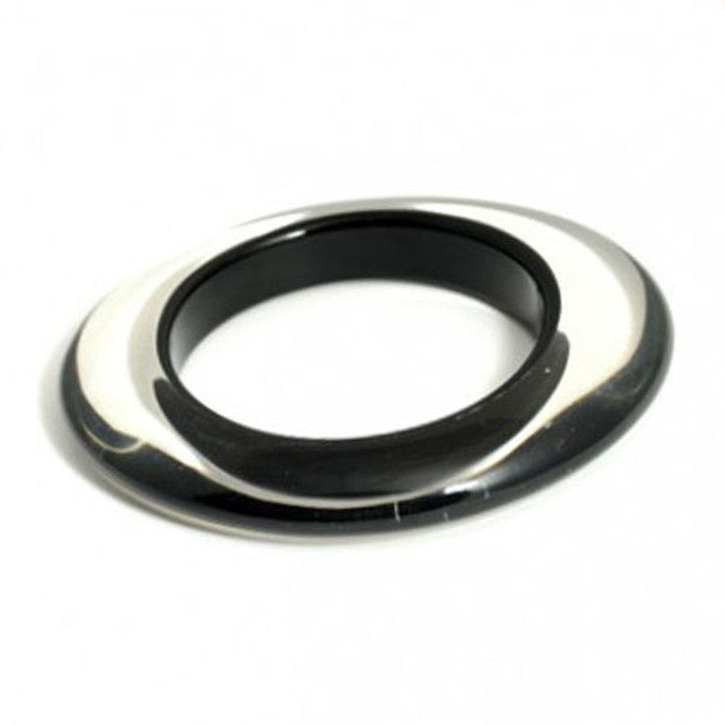 Black Color Injected Lucite Bangle