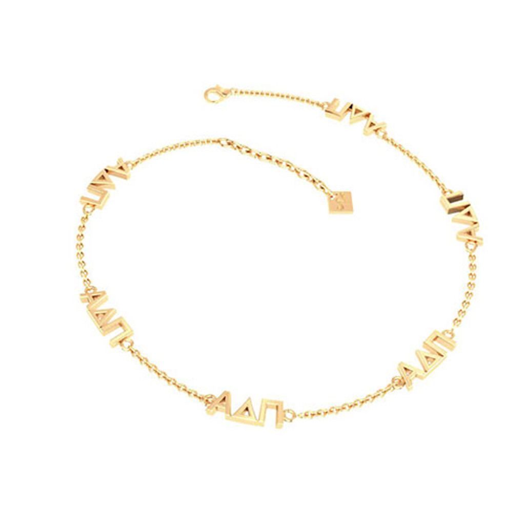 Alpha Delta Pi Gold Plated Multi Mini Bracelet