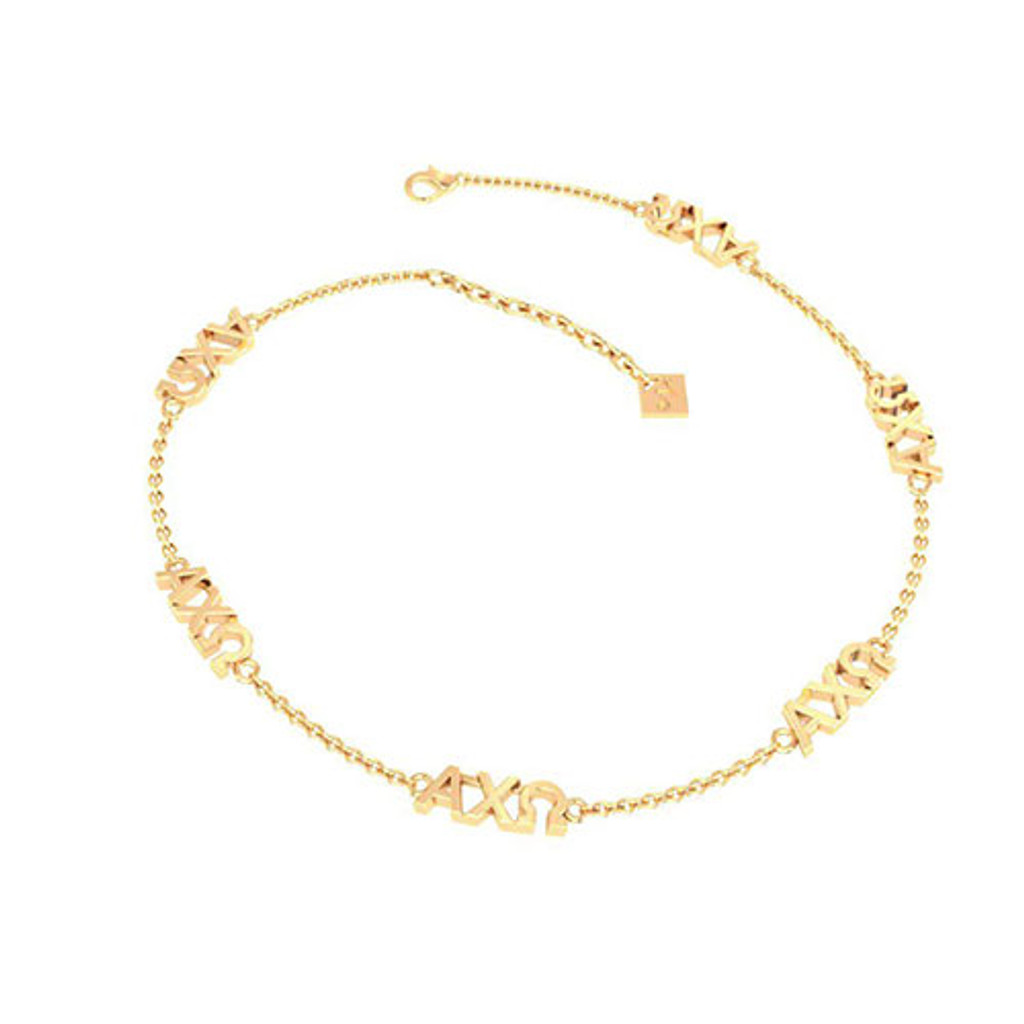 Alpha Chi Omega Gold Plated Multi Mini Bracelet