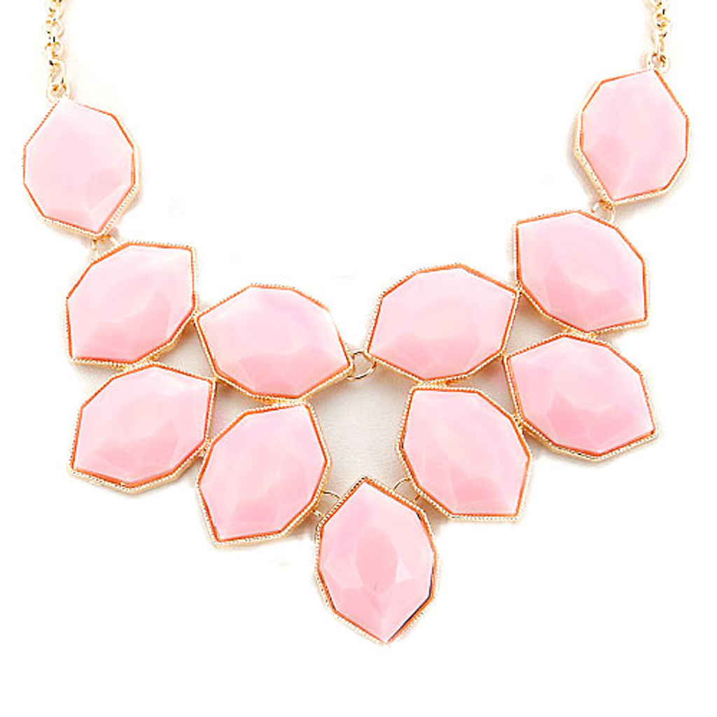 Baby Pink Statement Necklace