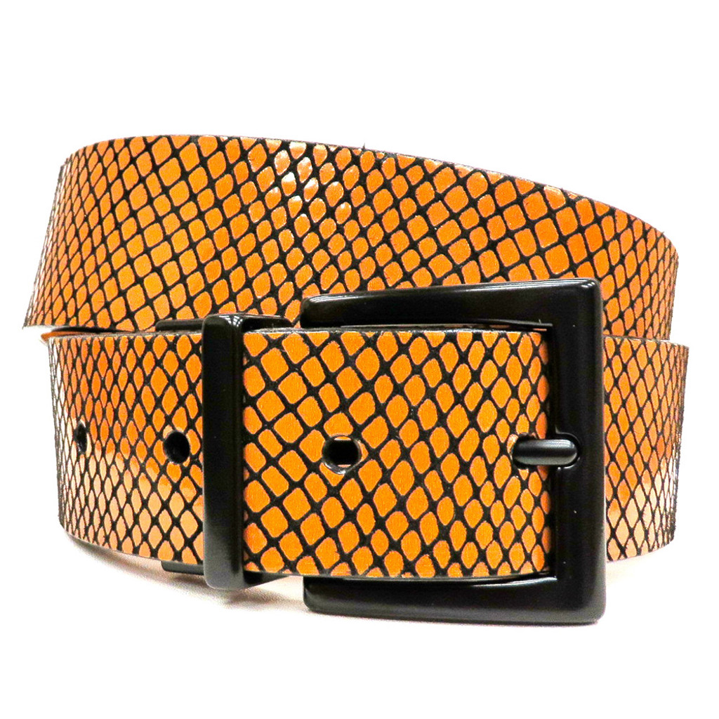 Reversible Snake Patterned Belt
